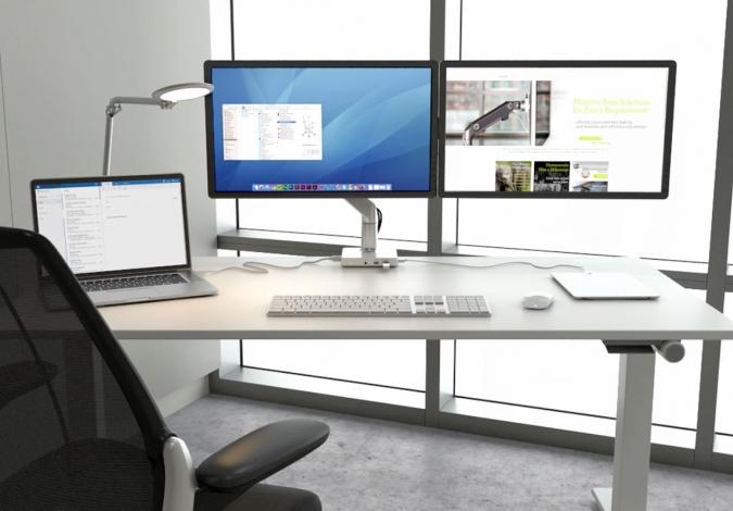 Monitorių laikikliai, kurie juda 360° kampu.